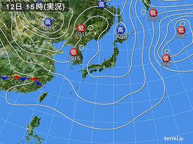 実況天気図(2017年03月12日)