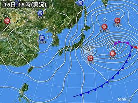 実況天気図(2017年03月15日)
