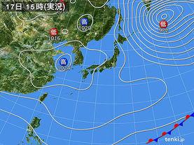 実況天気図(2017年03月17日)