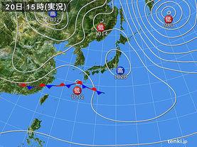 実況天気図(2017年03月20日)