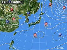 実況天気図(2017年03月24日)