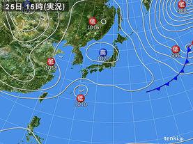 実況天気図(2017年03月25日)