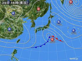 実況天気図(2017年03月26日)