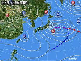 実況天気図(2017年03月27日)