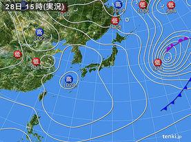実況天気図(2017年03月28日)