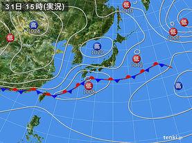 実況天気図(2017年03月31日)