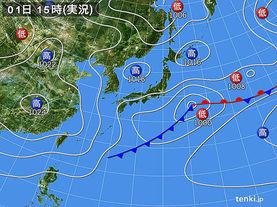 実況天気図(2017年04月01日)