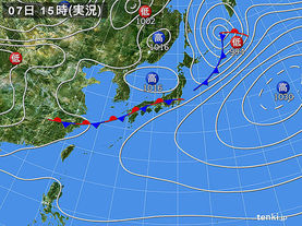 実況天気図(2017年04月07日)