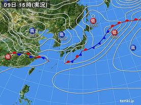 実況天気図(2017年04月09日)