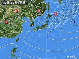 実況天気図(2017年04月15日)