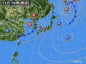 実況天気図(2017年04月17日)