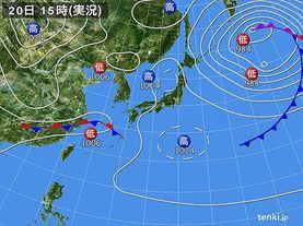 実況天気図(2017年04月20日)