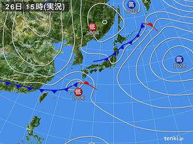 実況天気図(2017年04月26日)