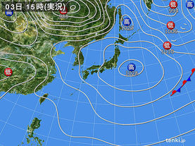 実況天気図(2017年05月03日)