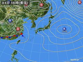 実況天気図(2017年05月04日)