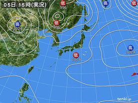 実況天気図(2017年05月05日)