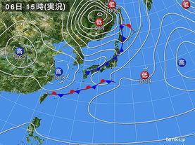 実況天気図(2017年05月06日)