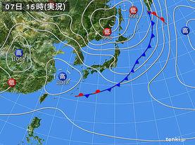 実況天気図(2017年05月07日)