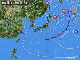 実況天気図(2017年05月08日)