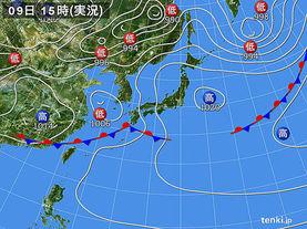 実況天気図(2017年05月09日)