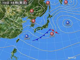 実況天気図(2017年05月10日)