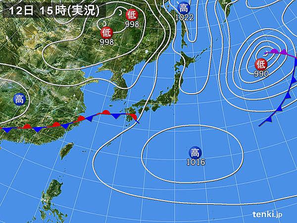 実況天気図(2017年05月12日)