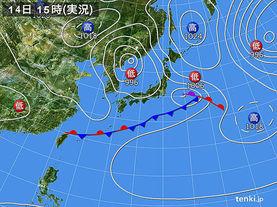 実況天気図(2017年05月14日)