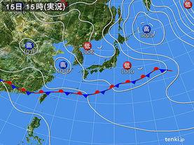 実況天気図(2017年05月15日)