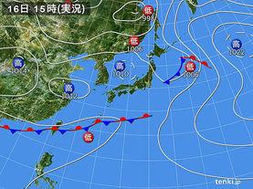 実況天気図(2017年05月16日)