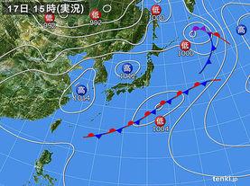 実況天気図(2017年05月17日)