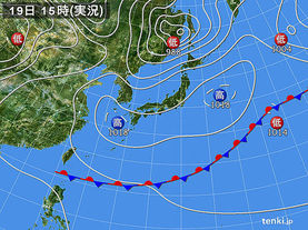 実況天気図(2017年05月19日)