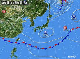 実況天気図(2017年05月20日)