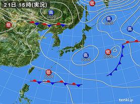 実況天気図(2017年05月21日)