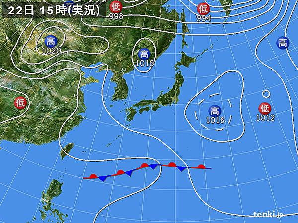 実況天気図(2017年05月22日)
