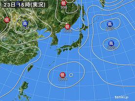 実況天気図(2017年05月23日)