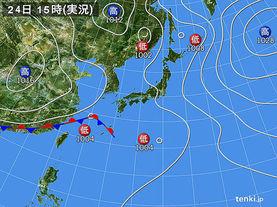 実況天気図(2017年05月24日)
