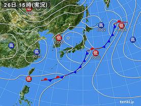実況天気図(2017年05月26日)