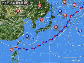 実況天気図(2017年05月27日)