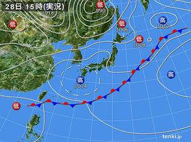 実況天気図(2017年05月28日)