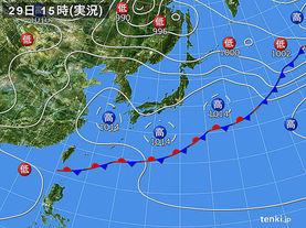 実況天気図(2017年05月29日)