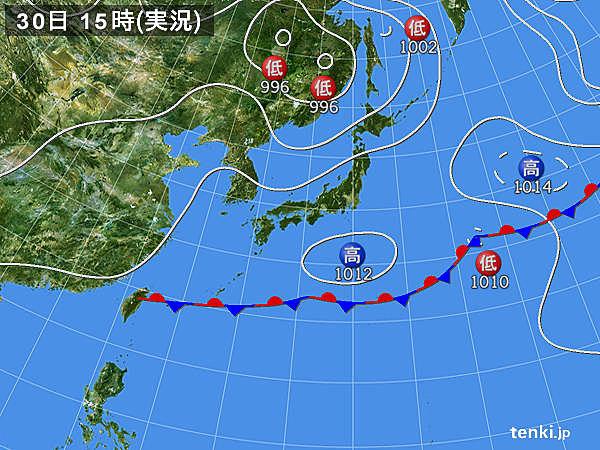 実況天気図(2017年05月30日)