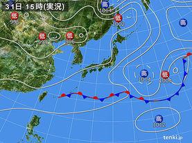 実況天気図(2017年05月31日)