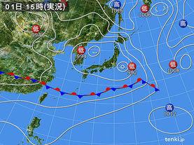 実況天気図(2017年06月01日)