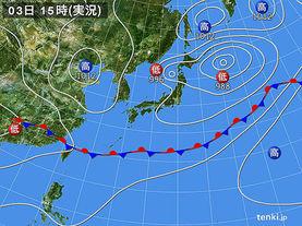 実況天気図(2017年06月03日)