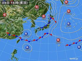 実況天気図(2017年06月08日)
