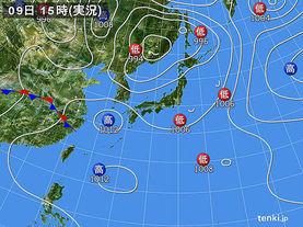 実況天気図(2017年06月09日)