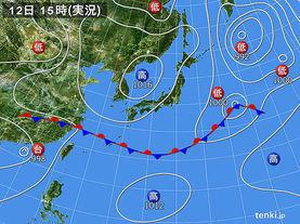 実況天気図(2017年06月12日)
