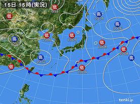 実況天気図(2017年06月15日)