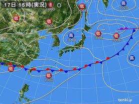 実況天気図(2017年06月17日)