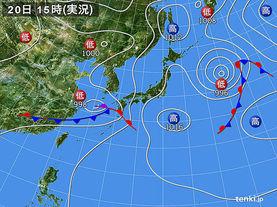 実況天気図(2017年06月20日)